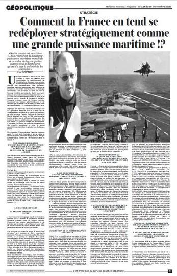 Comment la France entend se redéployer stratégiquement comme une grande puissance maritime !?
