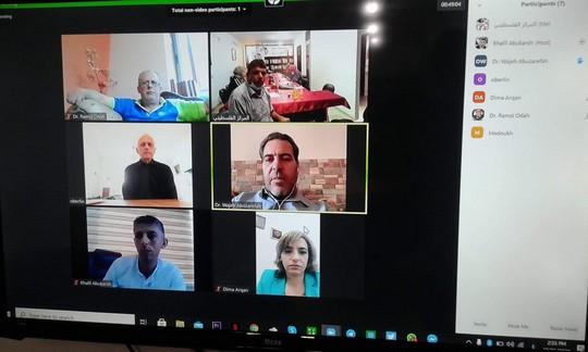 Échange entre des universitaires palestiniens et le professeur français Dr. Christophe Oberlin sur le plan israélien d'annexion