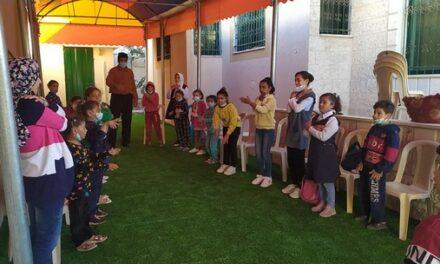 Une séance d'animation et de soutien psychologique pour les enfants de Beit-Lahya