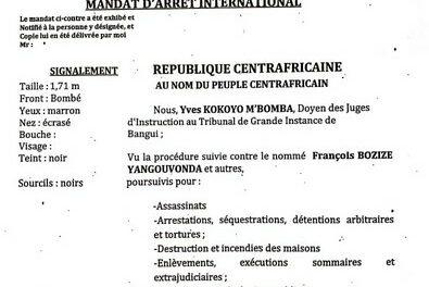 Mandat d'arrêt pour crimes de guerre contre l'ex-président Bozizé, lancé à Bangui par la justice centrafricaine !