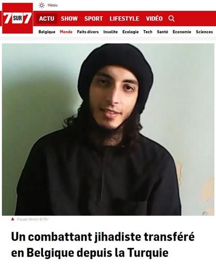 Un combattant jihadiste transféré en Belgique depuis la Turquie