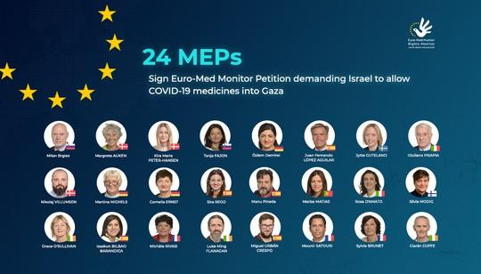 Des députés européens demandent de mettre fin au siège de Gaza, en autorisant l'entrée des traitements COVID-19