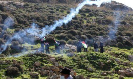 Les soldats d'occupation attaquent une manifestation pacifique à Naplouse