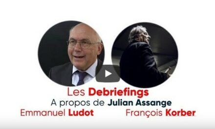 Debriefing sur Julian Assange avec M Francois Korber président de l'association Robin des Lois et Me Ludot