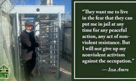 Israël n'a pas osé condamner Issa Amro à une peine de prison ferme !