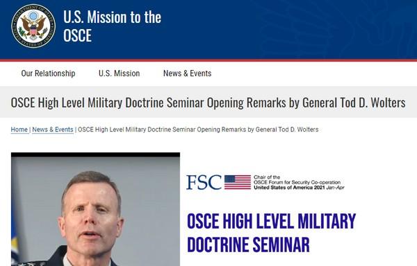 Enlisement de l'OSCE : la Russie refuse de participer à un séminaire sur les doctrines militaires