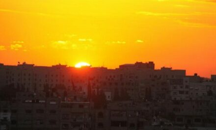 Le soleil en hiver à Gaza : Magnifique !