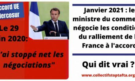 La France est-elle en train de se rallier à l'Accord UE-Mercosur ?