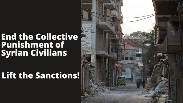 Arrêtez les sanctions contre la Syrie