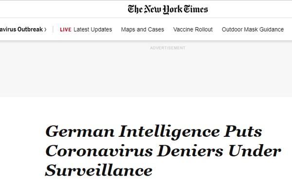 Post-démocratie covidienne : l'Allemagne annonce mettre sous surveillance les personnes critiquant les mesures liberticides