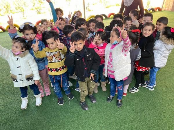 Une séance d'animation et de soutien psychologique pour les enfants de Rafah