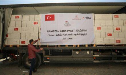 La Turquie distribue 7500 colis alimentaires à la population de Gaza pour le Ramadan 2021