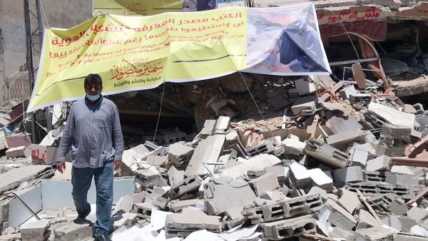L'armée israélienne a détruit la librairie Mansour. Gaza résiste par la culture -vidéo-