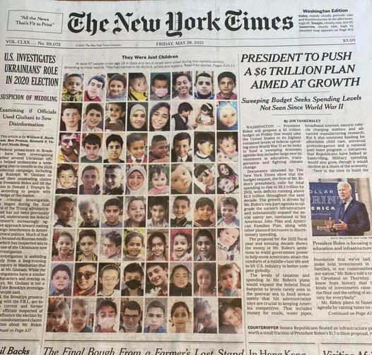 Le New York Times du vendredi 28 mai