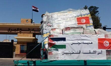La Tunisie fournit une aide médicale et alimentaire urgente à la population de Gaza notamment pour les déplacés dans les écoles