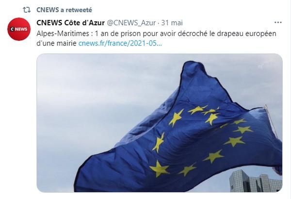 Billet du jour : Décrocher un drapeau européen confine au crime de lèse-majesté