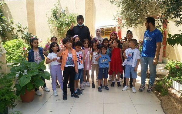 Une séance d'animation et de soutien psychologique pour les enfants de Jabalya
