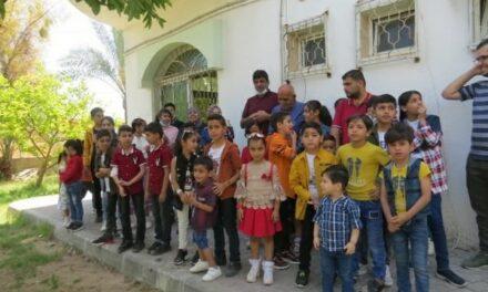 Une séance d'animation et de soutien psychologique pour les enfants de Beit-Hanoun