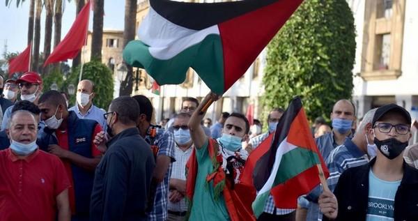 Des militants marocains rejettent la visite du ministre des Affaires étrangères de l'occupation