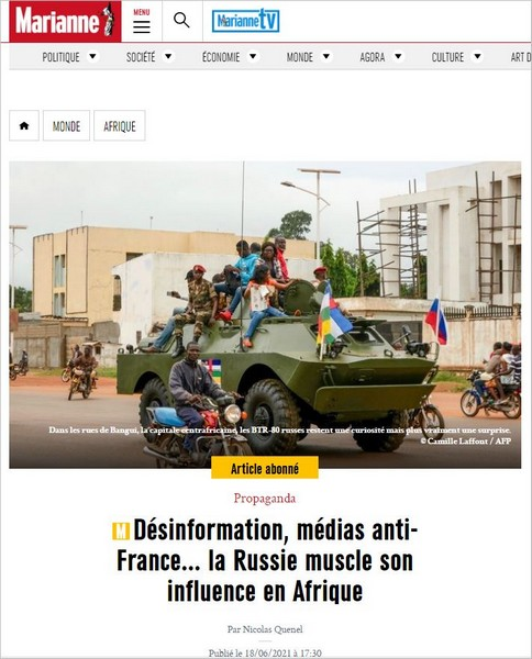 'Alerte russe en Afrique noire' : attaque de 'Marianne' contre Luc Michel et les Russes en RCA, le dessous des cartes !