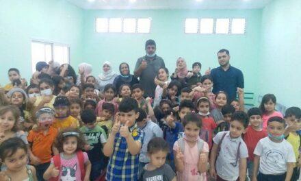 Une séance d'animation et de soutien psychologique pour les enfants de Khan-Younis